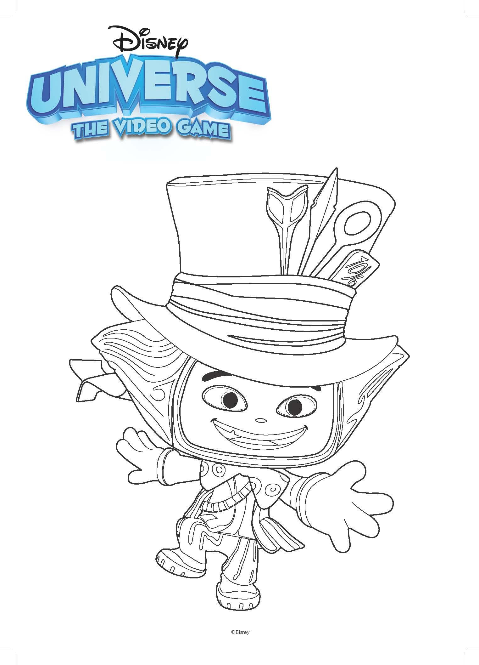 Disney Kleurplaat Mad Hatter