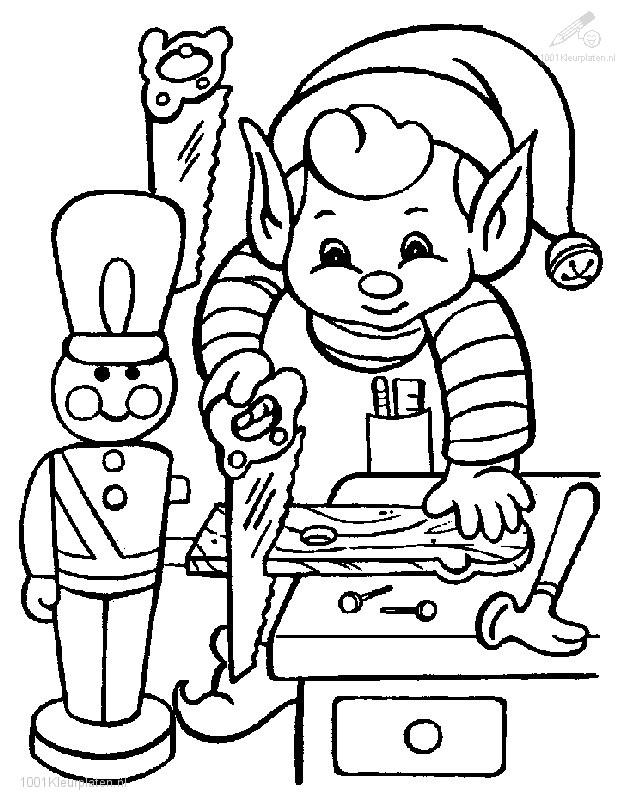 Elf maakt kerst kado