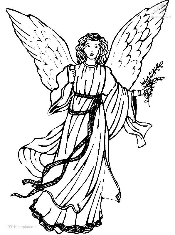 Oscorux Kerst Engel Kleurplaat