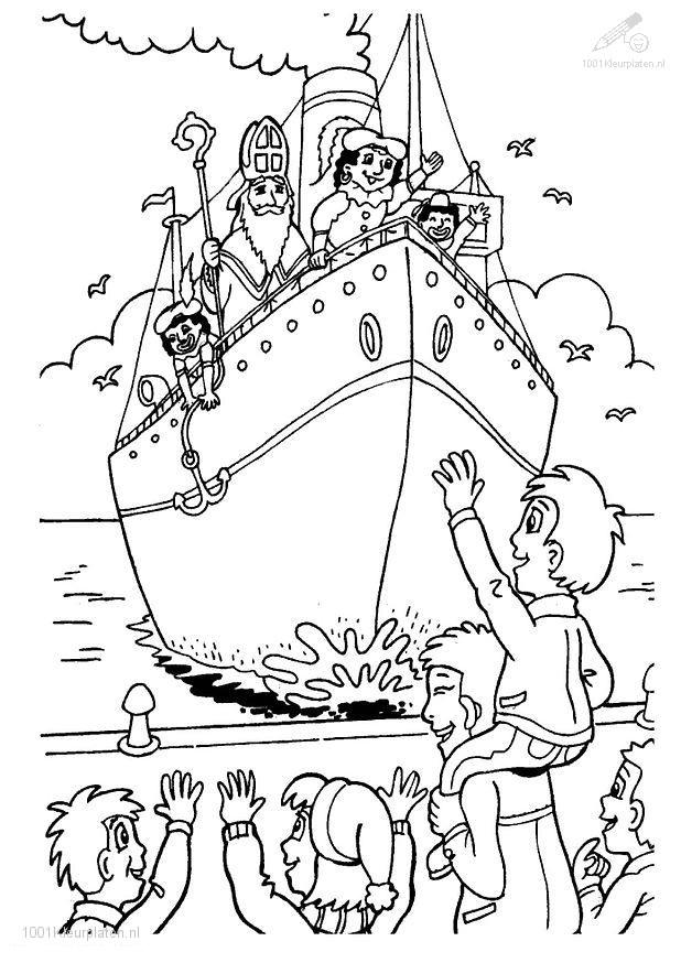 Kleurplaten Sinterklaas Mandala.1001 Kleurplaten Sinterklaas Stoomboot Kleurplaat Aankomst