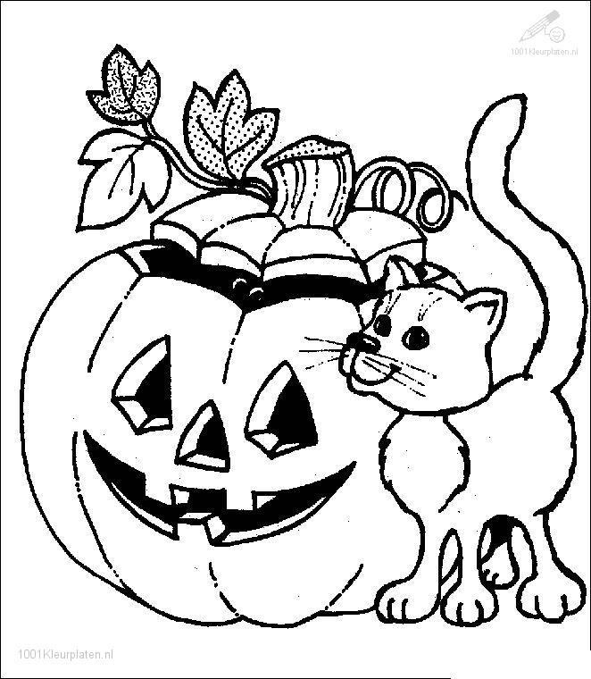Kleurplaat: kleurplaat-halloween-10
