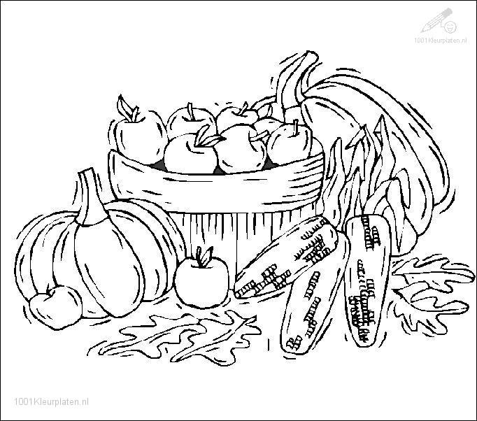 Kleurplaten Van Herfst.1001 Kleurplaten Seizoen Herfst Kleurplaat Herfst