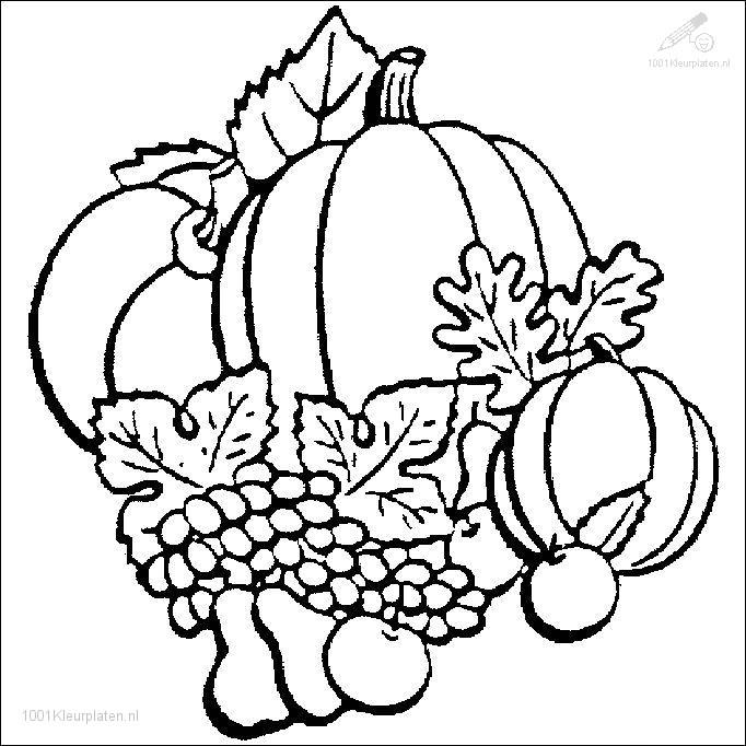 Kleurplaten Van Herfst.1001 Kleurplaten Seizoen Herfst Kleurplaat Herfst Pompoen