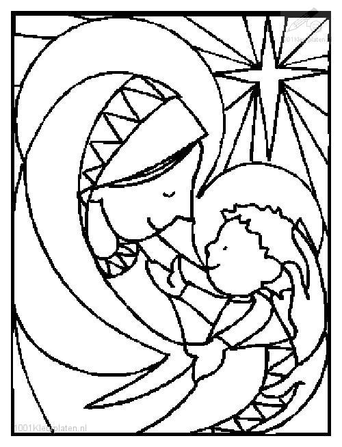 1001 Kleurplaten Kerst Jezus Kleurplaat Jezus En Maria