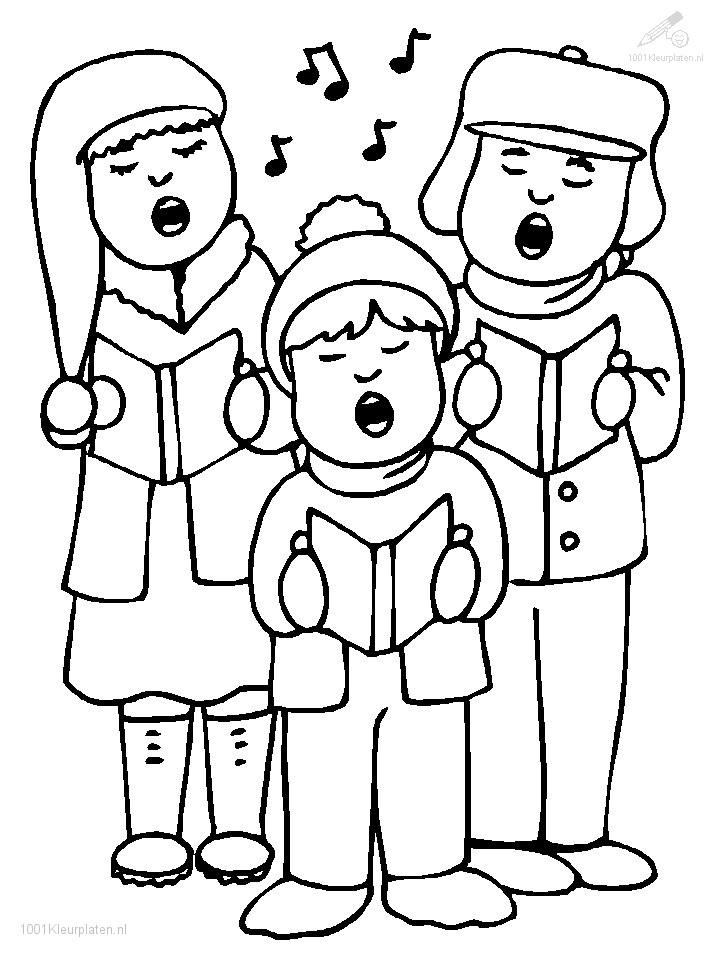 Kleurplaten Kerst Liedjes.1001 Kleurplaten Kerst Kerst Liedjes Zingende Kinderen