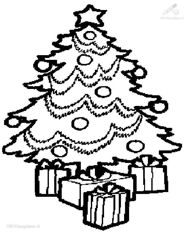 Kleurplaten Kerstman Met Kerstboom.1001 Kleurplaten Kerst Kerstbomen Kleurplaat Kerstboom