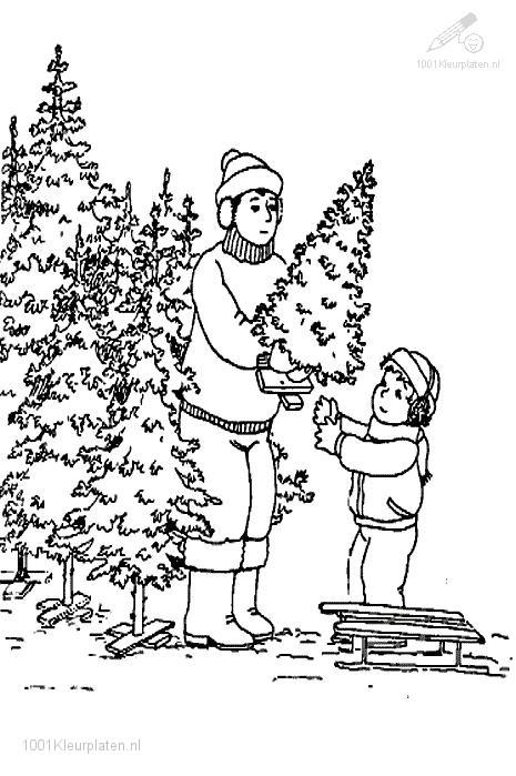 Kleurplaat: kleurplaat-kerstboom-kopen-b