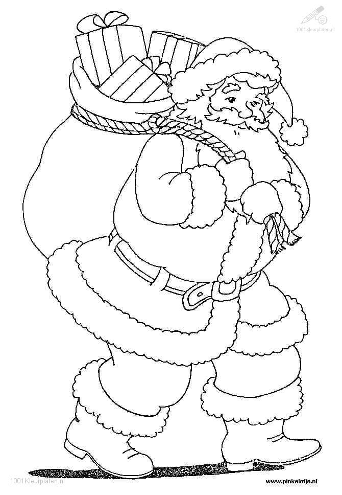 Kerstman Kleurplaten Zoeken.1001 Kleurplaten Kerst Kerstman Kerstman Kleurplaat