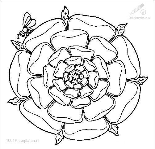 Kleurplaten Mandala Lente.1001 Kleurplaten Fantasie Mandala Kleurplaat Mandala