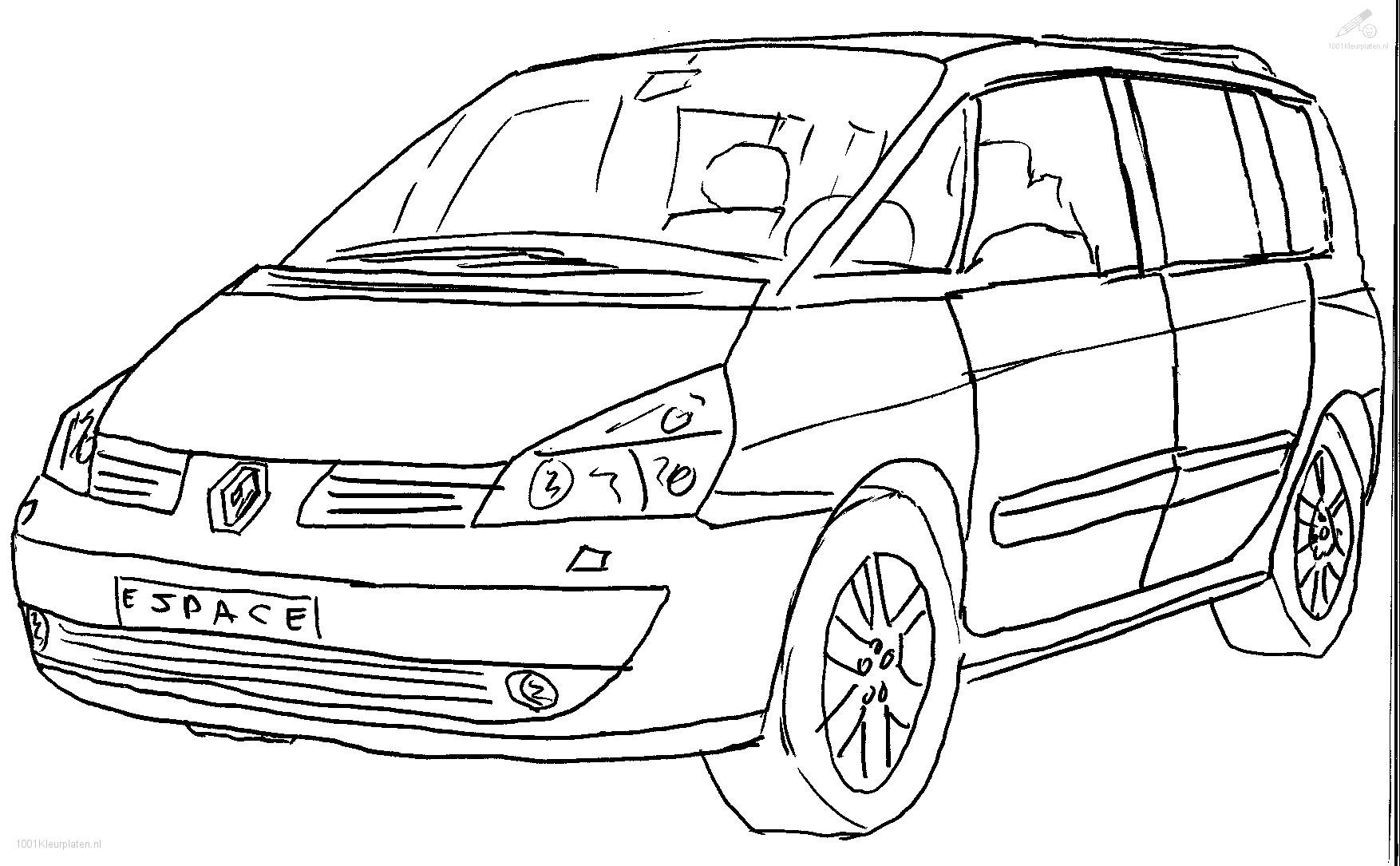 1001 Kleurplaten Voertuigen Auto Kleurplaat Renault