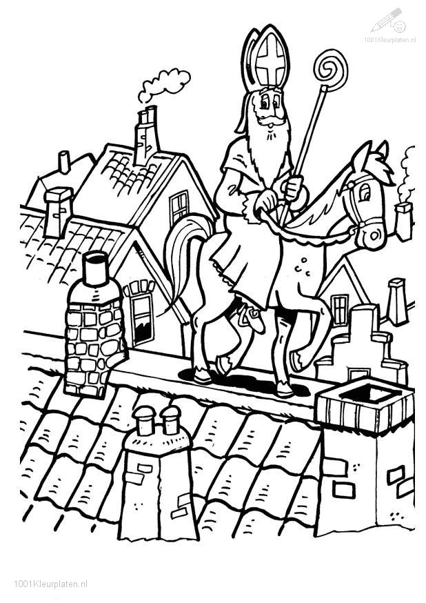 Sint op het dak