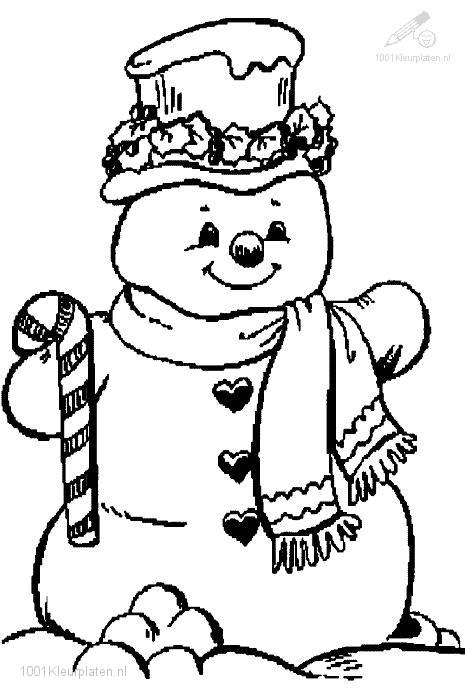 Kleurplaten Voor De Winter.1001 Kleurplaten Seizoen Winter Kleurplaat Sneeuwpop