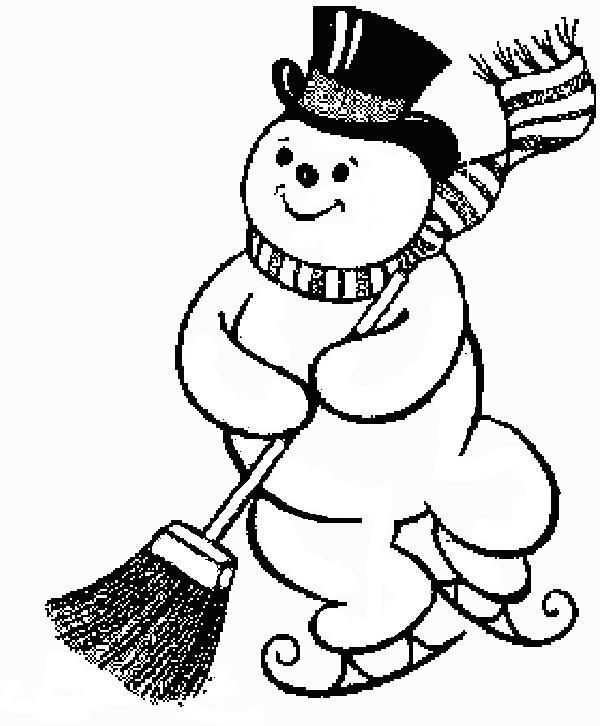 Kleurplaat Kleurplaat Sneeuwpop F