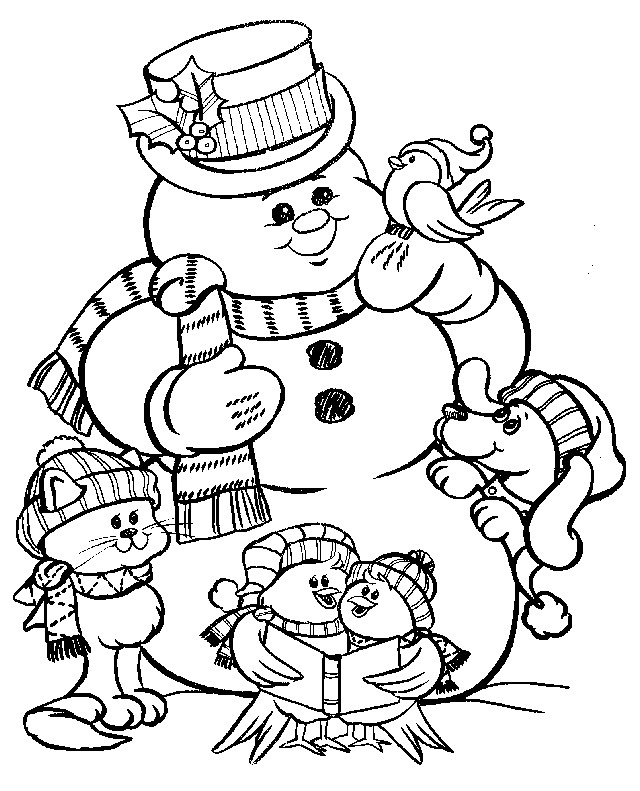 Kleurplaten Kerstman Sneeuwman Archidev