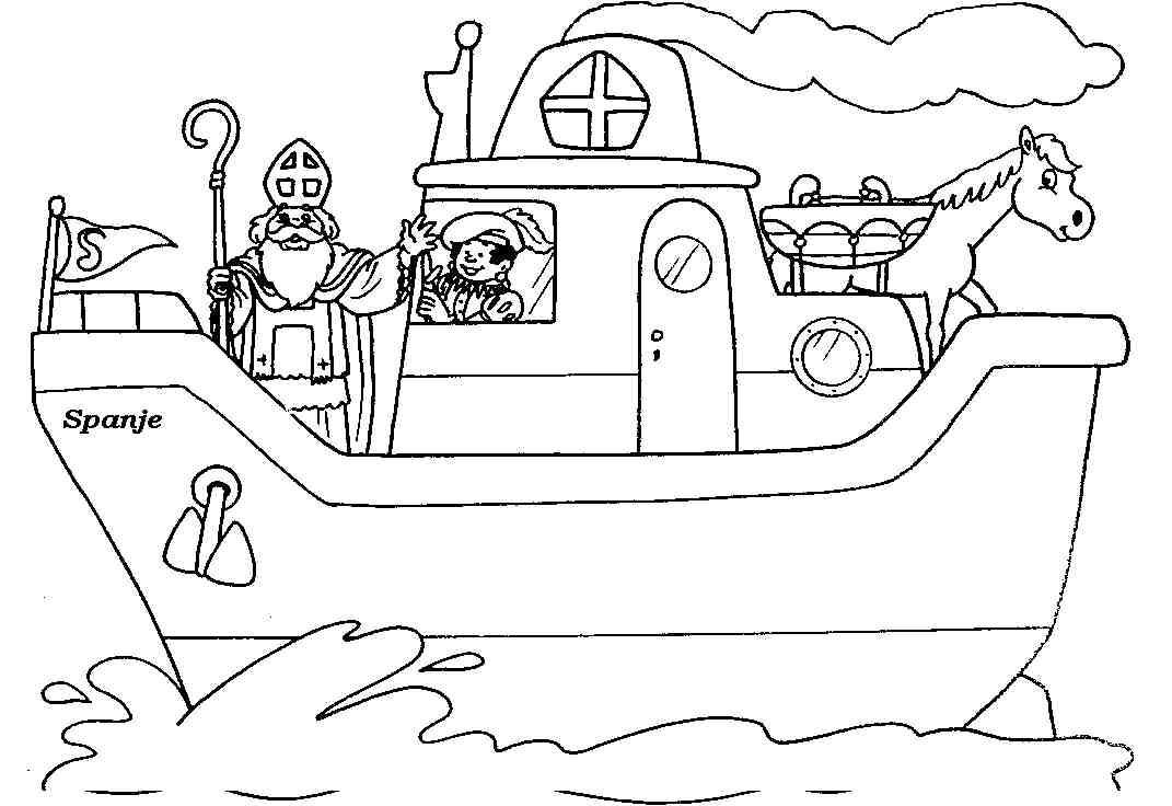 Kleurplaat Stoomboot